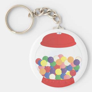 Red Gumball Machine Basic Round Button Keychain