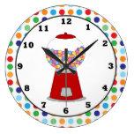 Red Gumball machine wall clock