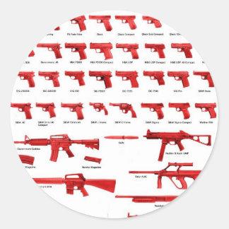 red guns classic round sticker