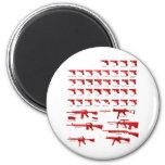 red guns fridge magnet