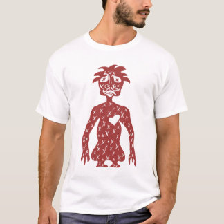 Red Guy white tee