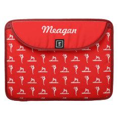 Red Gymnastics MacBook Pro Sleeve at Zazzle
