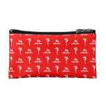Red Gymnastics Pattern Clutch Cosmetic Bags
