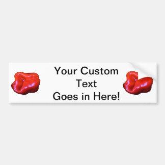 red habanero single cutout car bumper sticker
