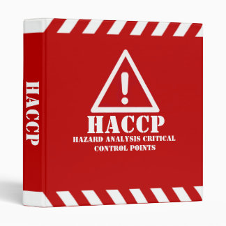 Red HACCP 3 Ring Binder
