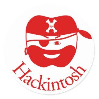 Red Hackintosh Sticker sticker