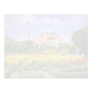 Red Hagia Sophia Museum, Turkey flowers Letterhead