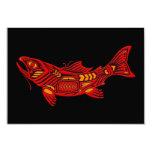 Red Haida Spirit Fish on Black Announcements