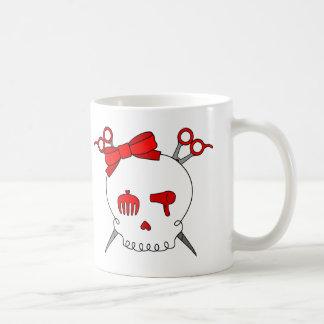 Red Hair Accessory Skull (Scissor Crossbones) Coffee Mug