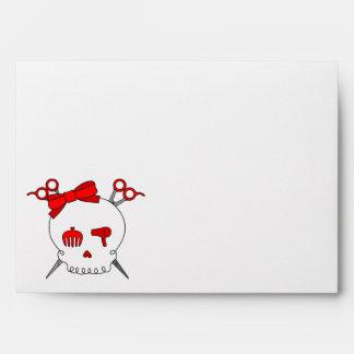 Red Hair Accessory Skull Scissor Crossbones Envelope