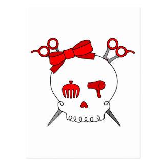 Red Hair Accessory Skull Scissor Crossbones Post Cards