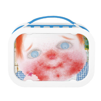 Red hair baby lunchbox