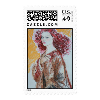 Red Hair Beauty Postage
