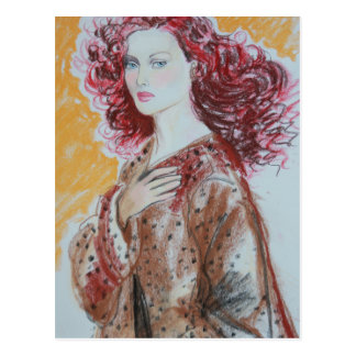 Red Hair Beauty Postcard