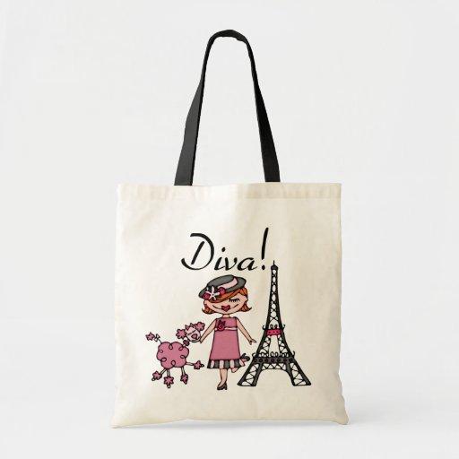 Red Hair Diva Budget Tote Bag