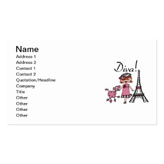 Red Hair Diva Double-Sided Standard Business Cards (Pack Of 100)