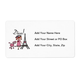 Red Hair Diva Shipping Label