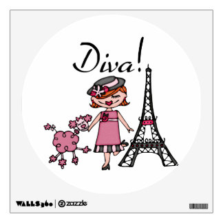 Red Hair Diva Wall Graphic