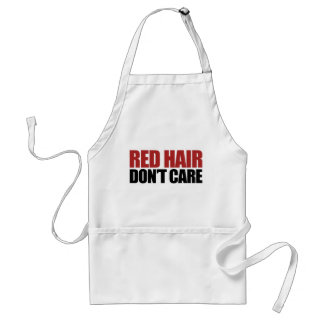 Red Hair Don't Care Adult Apron