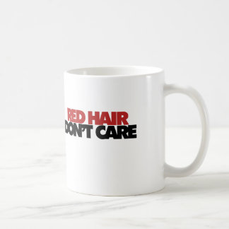 Red hair don't care coffee mug