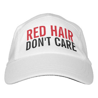 Red Hair Don't Care Cute Funny Fashion Women's Headsweats Hat