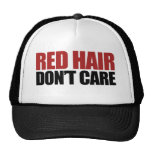Red Hair Don't Care Trucker Hat