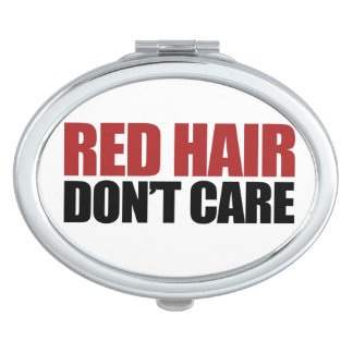 Red Hair Don't Care Vanity Mirror
