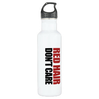 Red Hair Don't Care Water Bottle