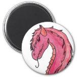 Red Hair Dragon Magnet