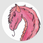 Red Hair Dragon Stickers