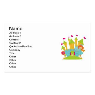Red Hair Fairy Princess Business Card Template