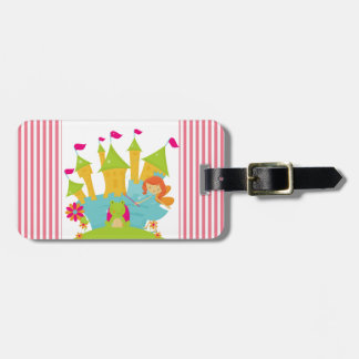 Red Hair Fairy Princess Luggage Tag