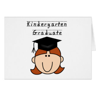 Red Hair Girl Kindergarten Graduate Greeting Card