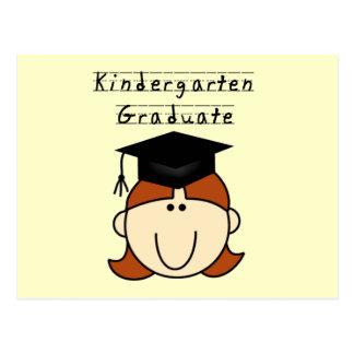 Red Hair Girl Kindergarten Graduate Postcard