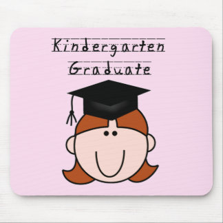 Red Hair GIrl Kindergarten Graduate  Tshirts Mouse Pad