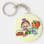 Red Hair Girl With Birthday Gifts T-shirts Keychain