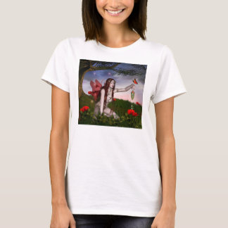 Red hair girl with lamplighter T-Shirt