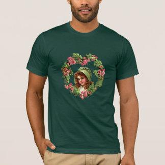 RED HAIR, GREEN BONNET by SHARON SHARPE T-Shirt
