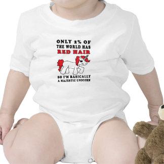 Red Hair Majestic Unicorn Baby One Piece Baby Bodysuits