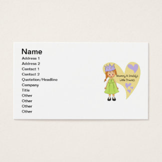 Red Hair Mommy and Daddy's Princess Business Card