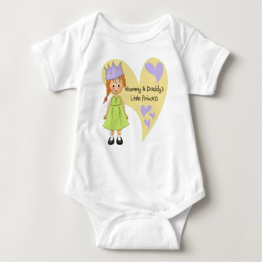 Red Hair Mommy and Daddy's Princess Infant Creeper