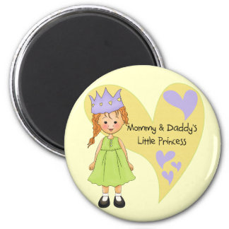 Red Hair Mommy and Daddy's Princess Magnets