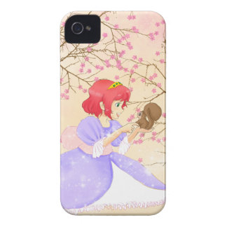 Red hair Princess and squirrel BlackBerry Bold iPhone 4 Case