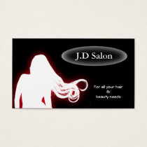 Red Hair Salon businesscards Business Card