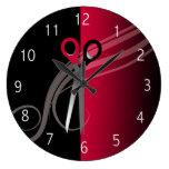 red hair salon clock