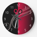 red hair salon clock