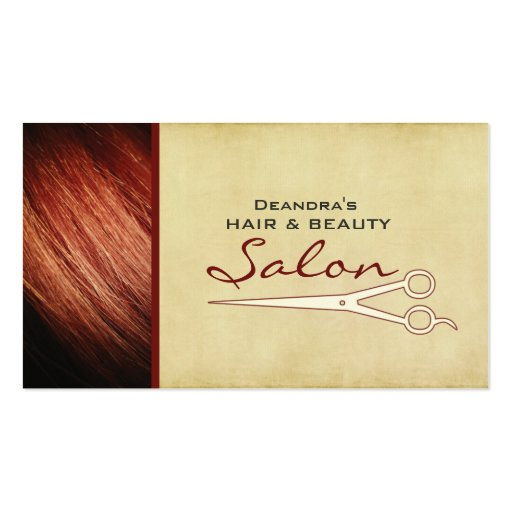 Red Hair Stylist Salon Appointment Business Card