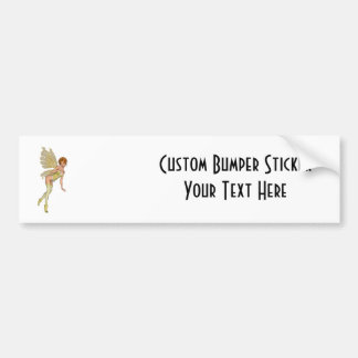 Red Haired 3D Pixie - Yellow Green Outfit Bumper Stickers