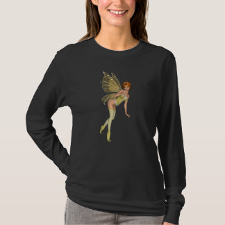 Red Haired 3D Pixie - Yellow Green Outfit T-Shirt
