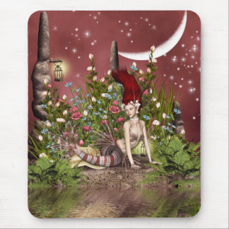 Red Haired Beauty Mouse Pad
